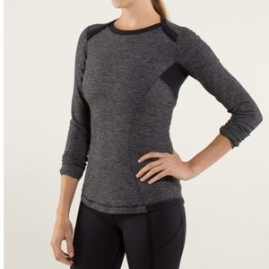 Lululemon base layer long sleeve tee striped